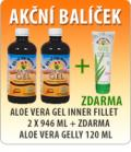 ALOE VERA GEL INNER FILLET 2 x 946 ML + ZDARMA ALOE VERA GELLY 120 ML